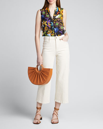 Lorena Floral V-Neck Sleeveless Blouse