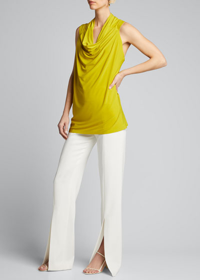 Neeta Cowl-Neck Sleeveless Top