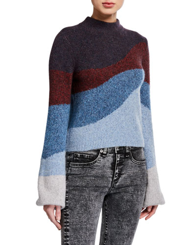 Alexey Mock-Neck Pullover Sweater