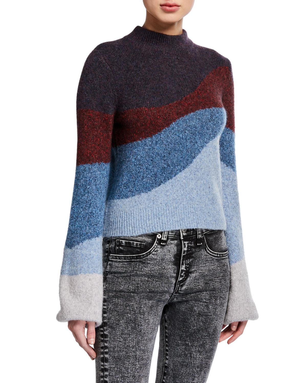 Veronica Beard Sweaters ALEXEY MOCK-NECK PULLOVER SWEATER