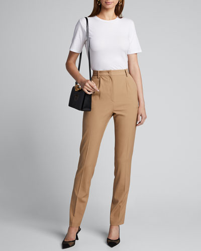 Crewneck Short-Sleeve Cotton Silk Touch T-Shirt