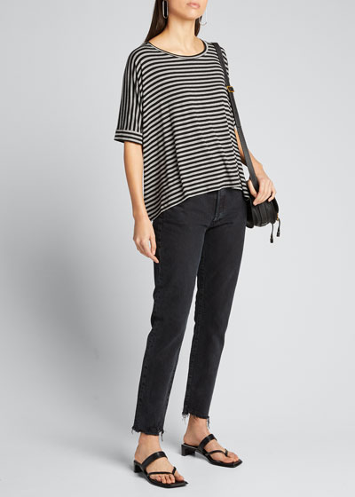 Striped Soft Touch Relaxed Short-Sleeve Tee