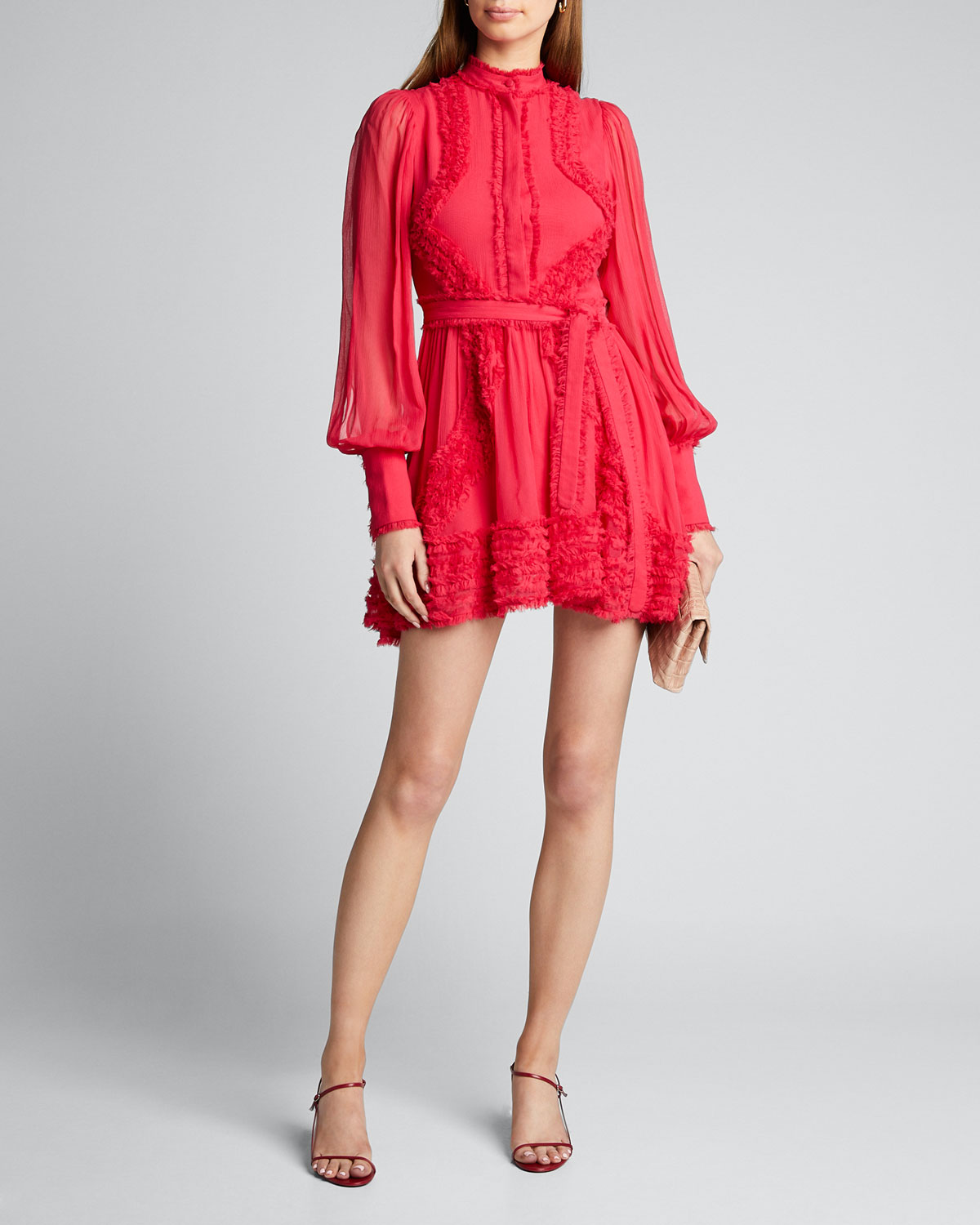 Alexis Dresses OLINKA LONG-SLEEVE RUFFLE DRESS