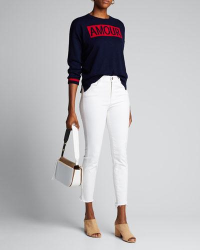 Amour Crewneck Wool-Blend Sweater