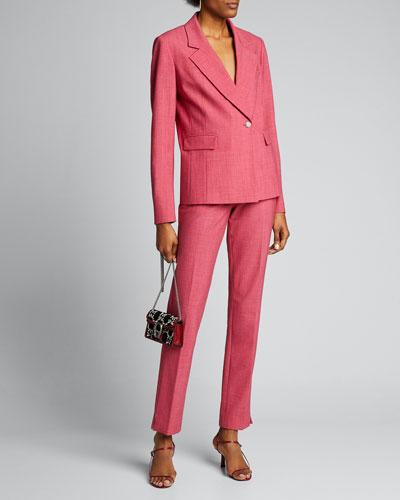 Crosshatch One-Button Suiting Jacket