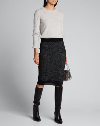 Rower Metallic Knit Skirt
