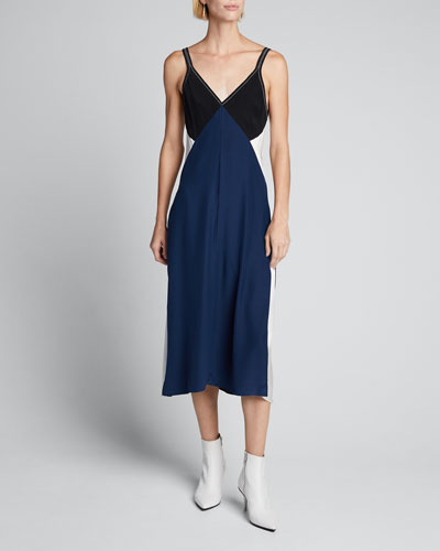 Gladys Colorblock Slip Dress