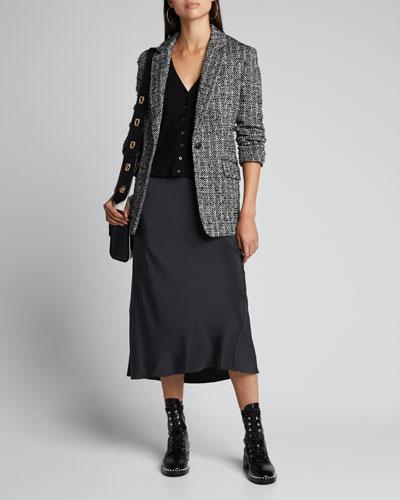 Ames Linton Wool Single-Button Blazer