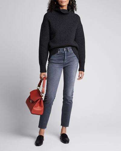 Nina High-Rise Cigarette Cropped Jeans