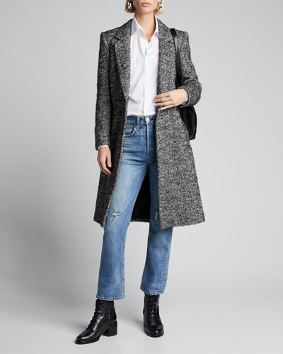 Dani Single-Button Wool Coat