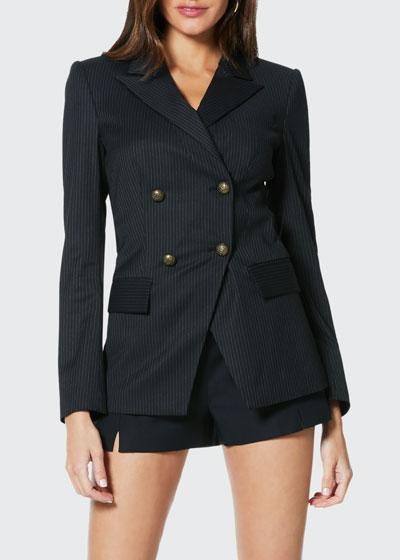 Lenni Pinstripe Double-Breasted Jacket