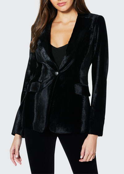 Eli Velvet Single-Button Jacket