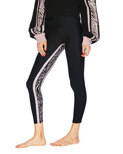 Gracie Leggings with Zebra Panel