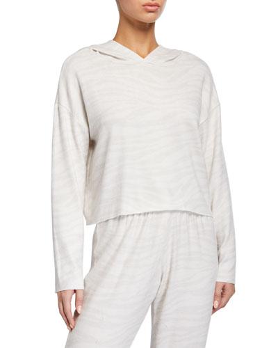 Weekend Crop Hoodie Sweatshirt