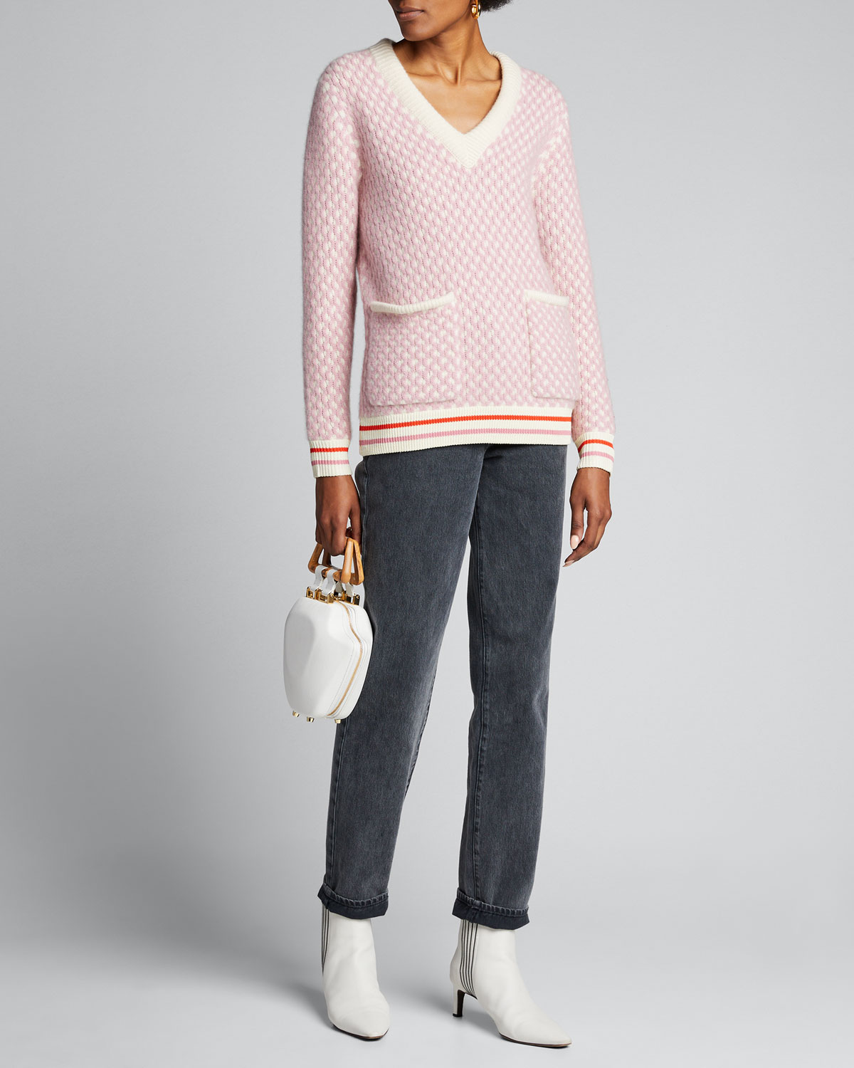 Kule Sweaters THE SHELBY PATCH-POCKET PULLOVER SWEATER
