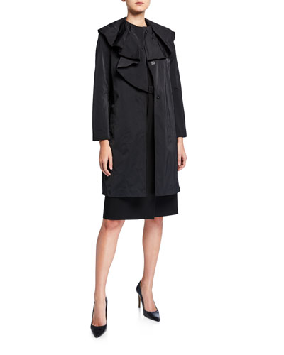 Constance Button-Front Chic Coat