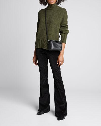Side-Slit Turtleneck Sweater