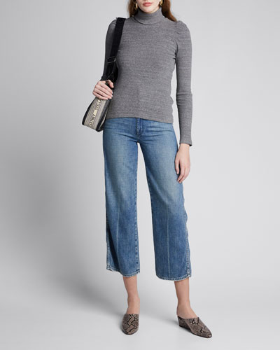 Ava Crop High-Rise Wide-Leg Jeans