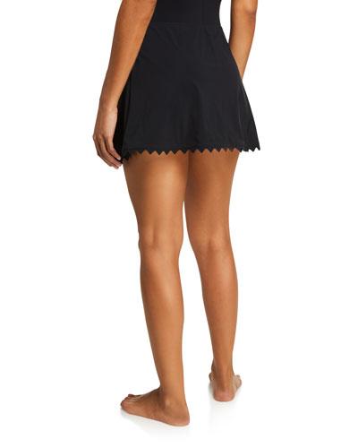 Ines A-Line Swim Skirt with Trim