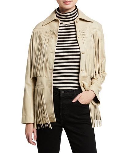Dixie Lamb Leather Fringe Jacket