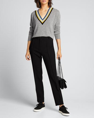 Jessel V-Neck Wool-Cashmere Sweater
