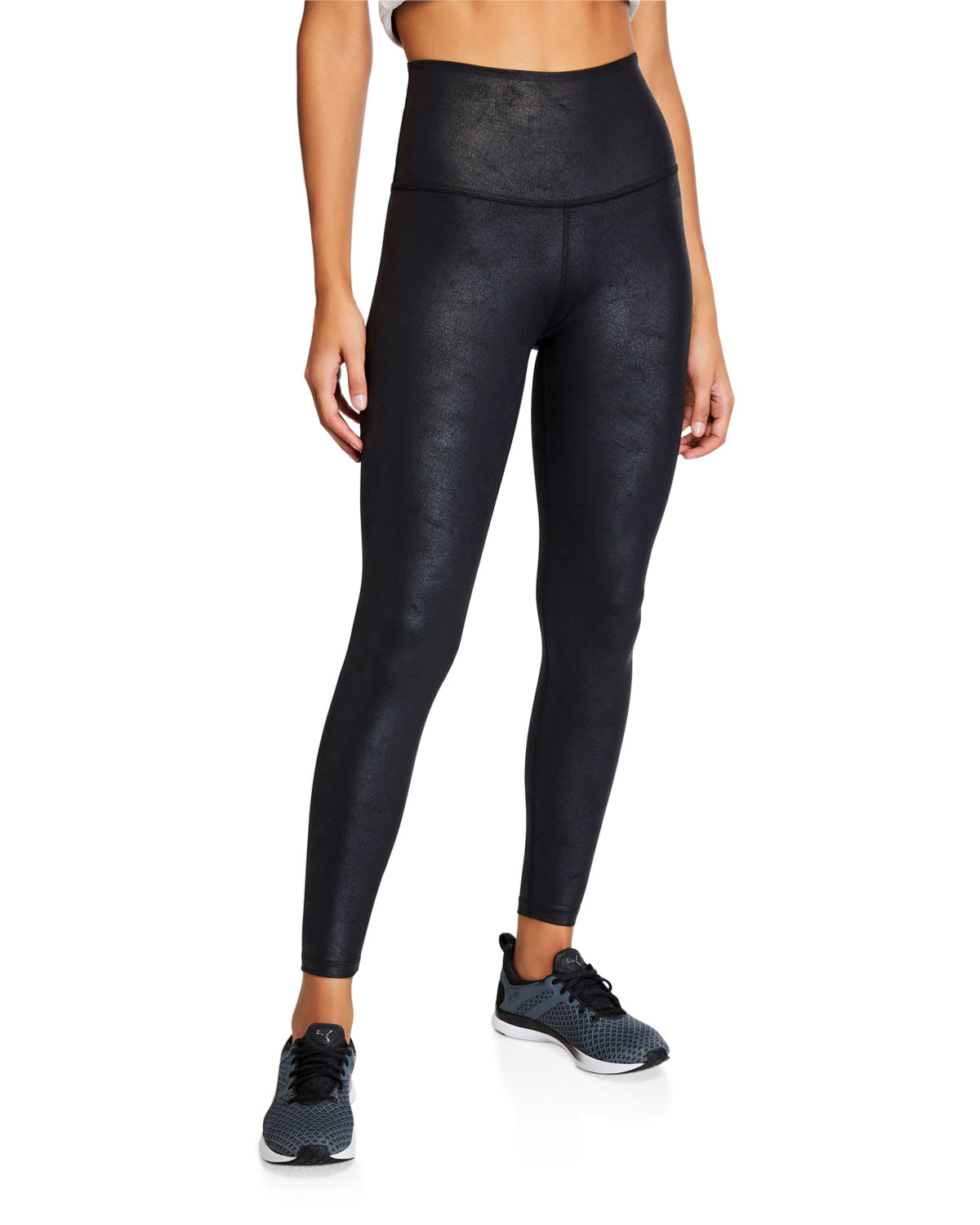 Beyond Yoga Pants LUXE LEATHERETTE HIGH-WAIST MIDI LEGGINGS