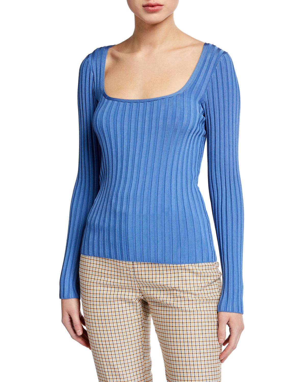 Veronica Beard Sweaters CLARA SCOOP-NECK SWEATER