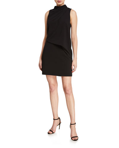 Mock-Neck Sleeveless Mini Dress