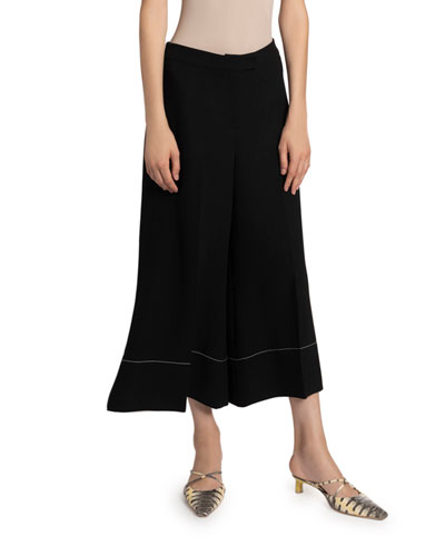 Dora Cropped Flare Trousers