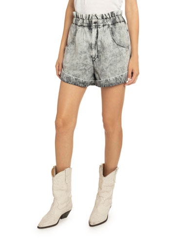Itea High-Waist Denim Shorts