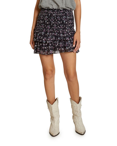 Frinley Printed Flounce Skirt