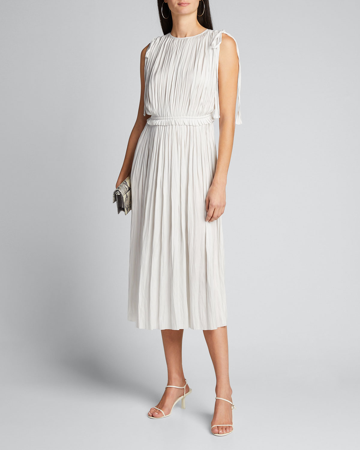 Ulla Johnson Dresses ALESSA PLEATED SLEEVELESS MIDI DRESS
