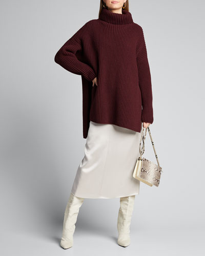 Donall Satin Double Face Midi Dress
