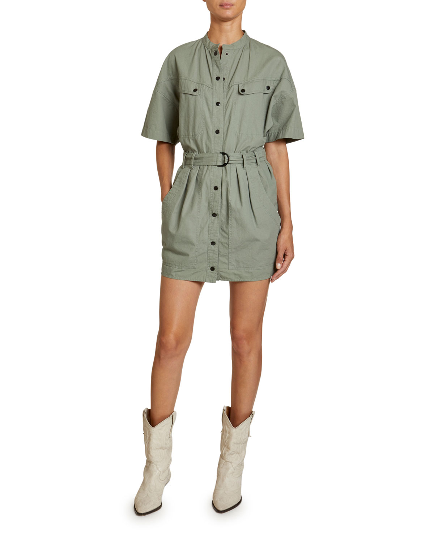 Etoile Isabel Marant Dresses ZOLINA COTTON UTILITY SHIRTDRESS