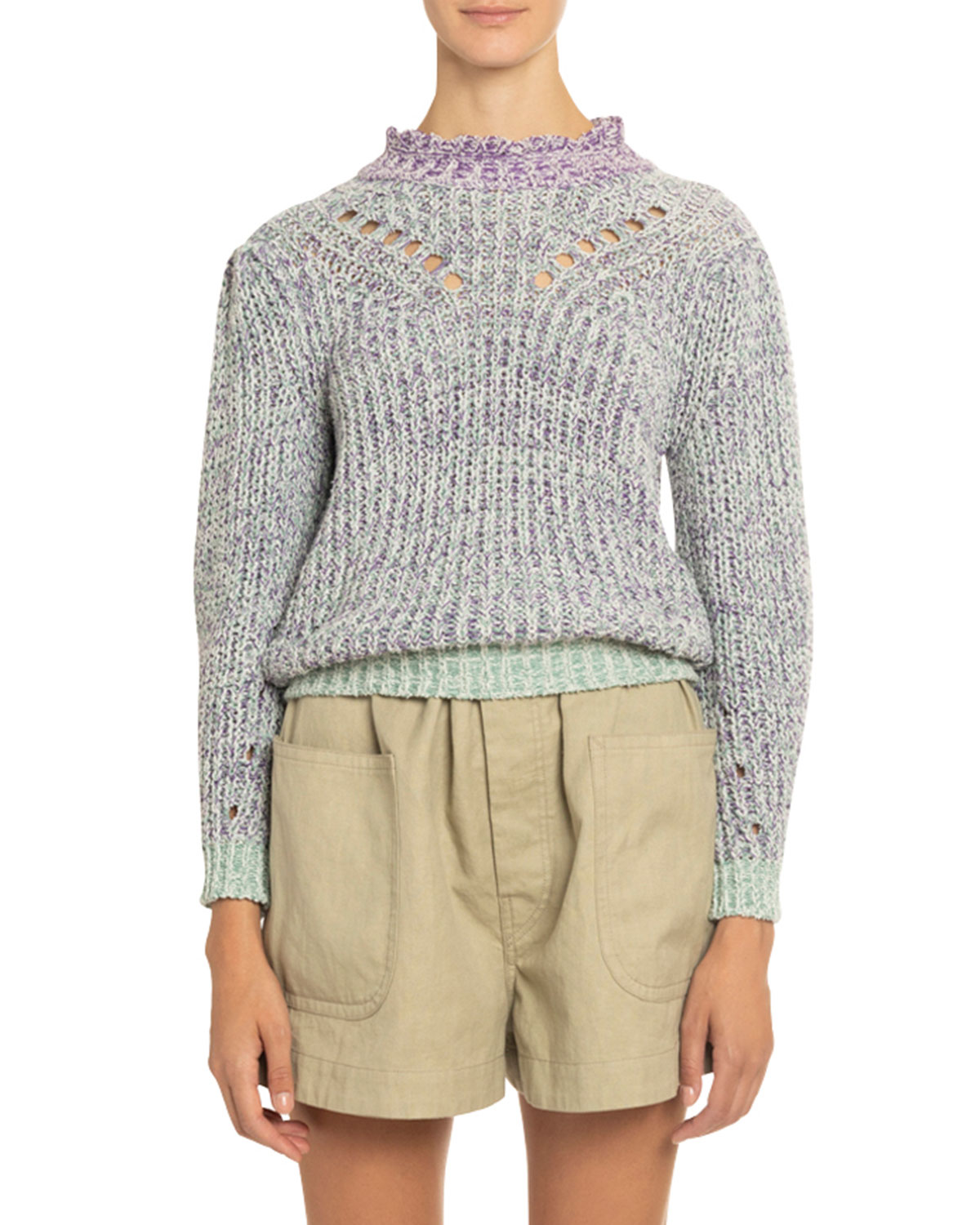 Etoile Isabel Marant Sweaters LOTIYA COTTON TURTLENECK SWEATER