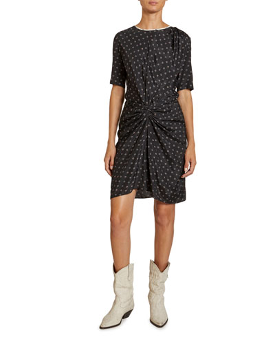 Bardeny Twisted Crewneck Tee Dress