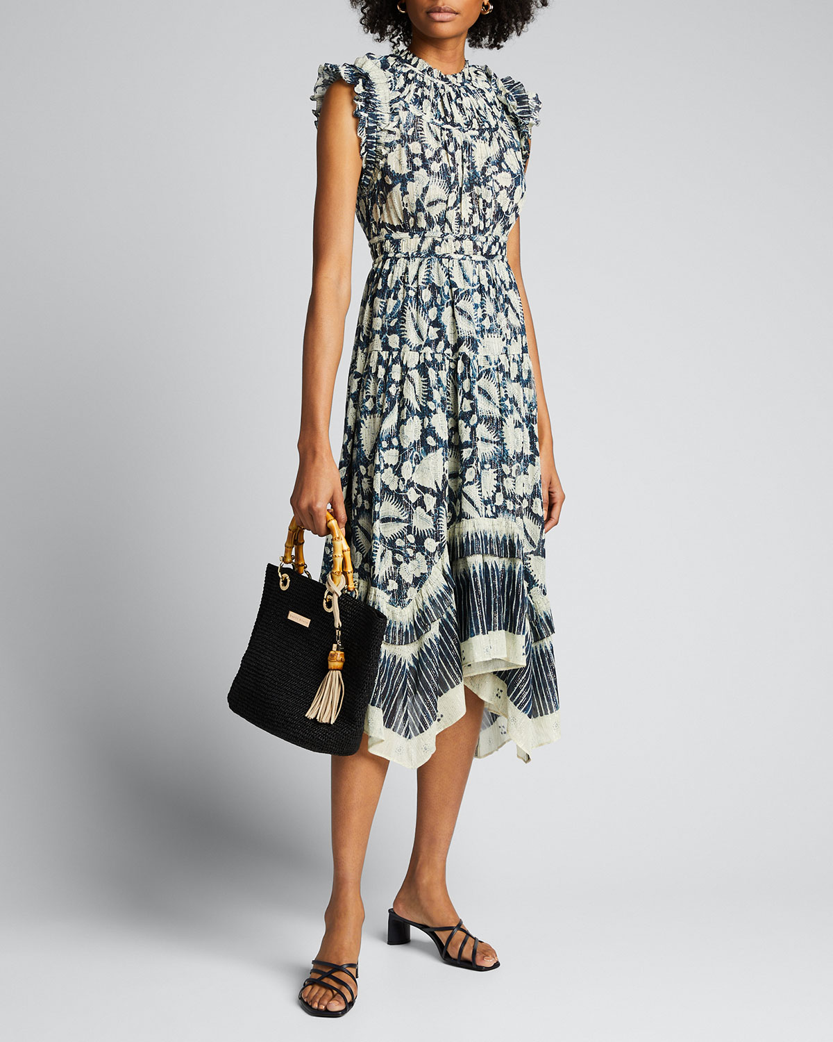 Ulla Johnson Dresses AMALIA BATIK-PRINT SLEEVELESS MIDI DRESS