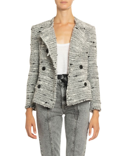 Jorson Shawl-Collar Tweed Jacket