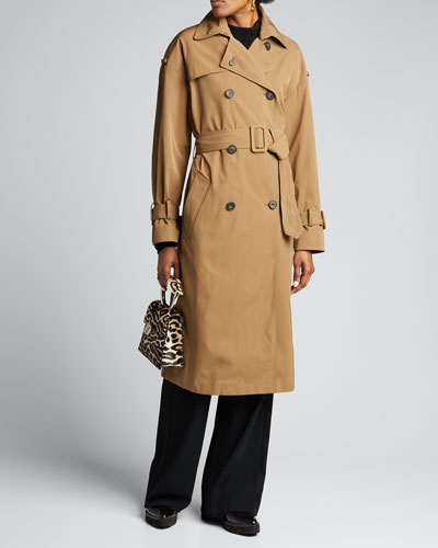 Belted Tech Trench Coat