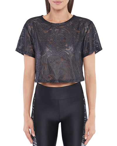 Terrain Plutone Lace Crop Top