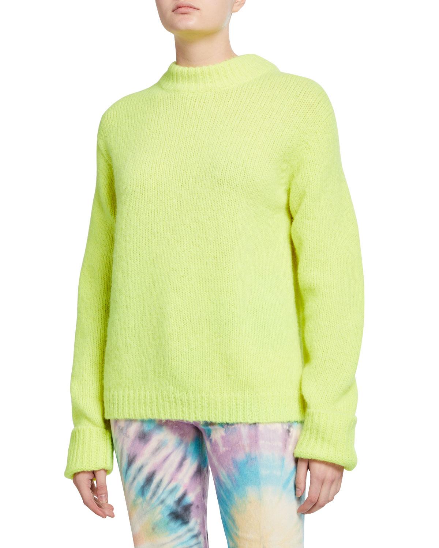 Tibi Sweaters COZETTE ALPACA EASY SWEATER