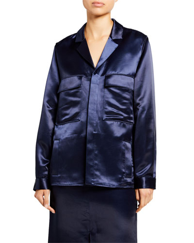 Satin Shirt Jacket
