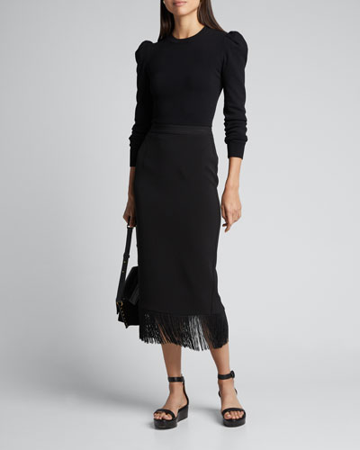 Louise Fringe Midi Skirt