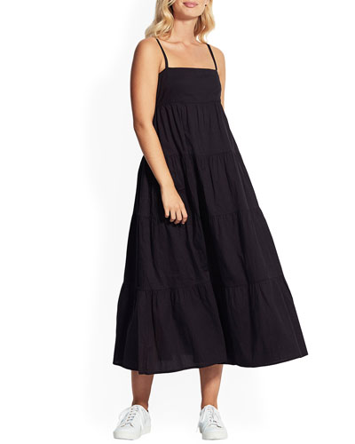 Sleeveless Tiered Maxi Dress