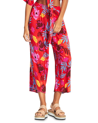 On Vacation Printed Coverup Pants