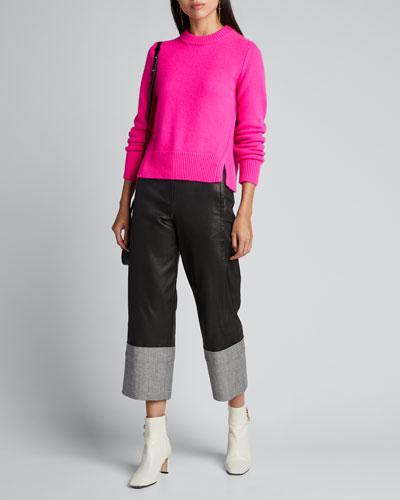 Cashmere Mini Crewneck Pullover