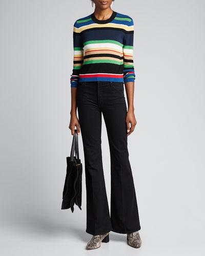Renata Striped Crewneck Sweater
