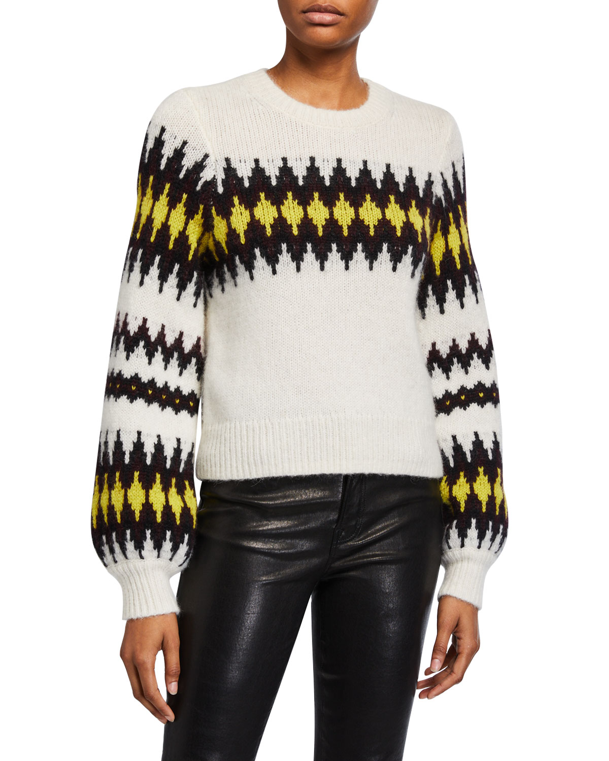 A.l.c Sweaters BADGLEY FAIR ISLE CREWNECK SWEATER
