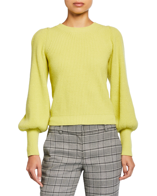 A.l.c Sweaters ELIANA CREWNECK BISHOP-SLEEVE SWEATER