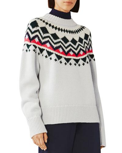 Engineered Fair Isle Merino Sweater